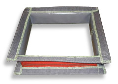 Flexible fabric ventilation duct connectors and compensators